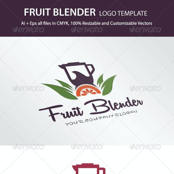 Fruit Blender Logo Template