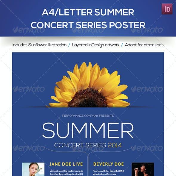 A4/Letter Summer Concert Series Poster