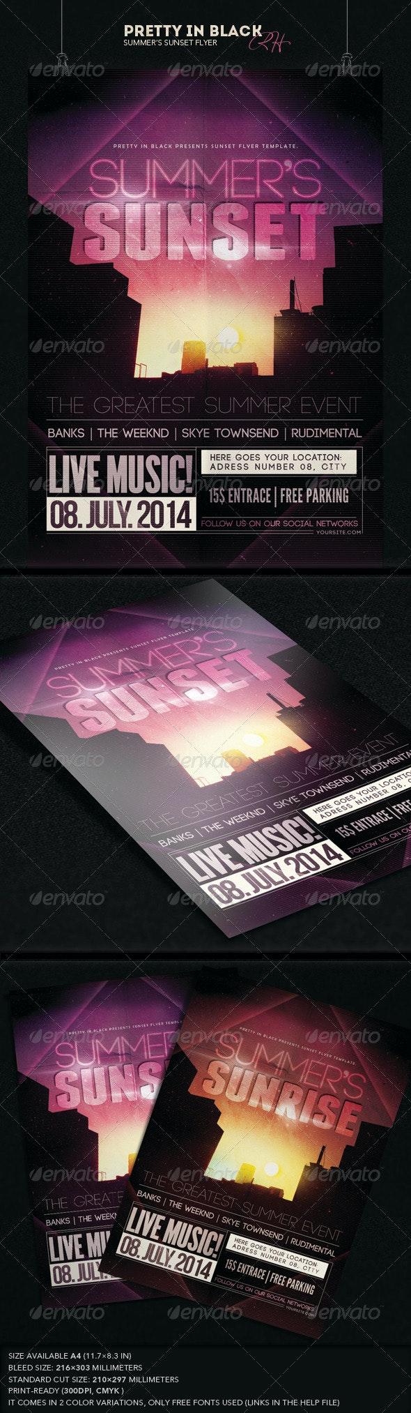 Summer's Sunset Flyer - Flyers Print Templates