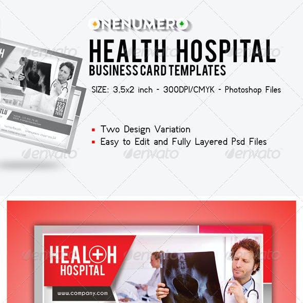 Health Hospital Business Card Templates