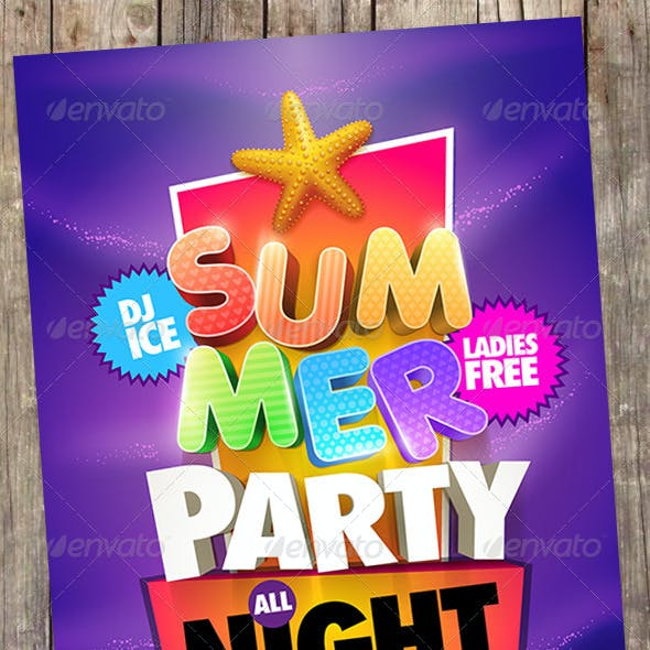 Summer Party Poster Design Collection