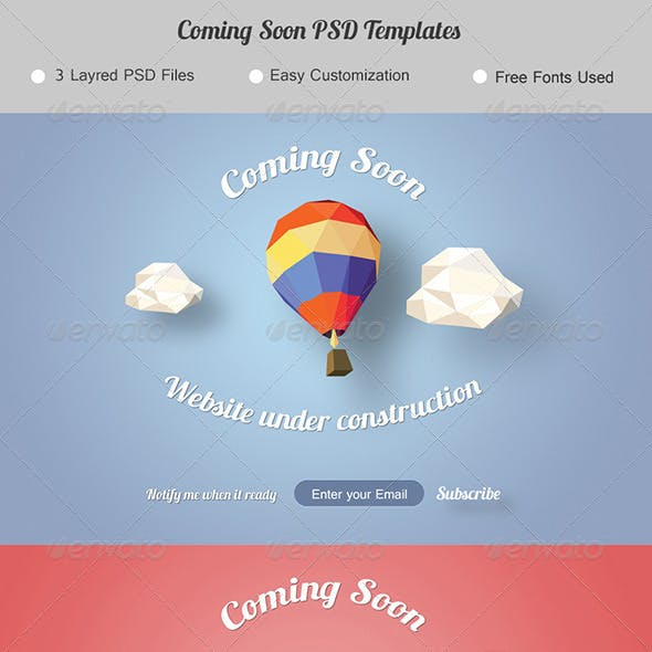 Coming Soon. Under Construction Page.