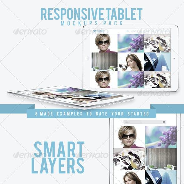 Responsive Tablet Mockups Pack