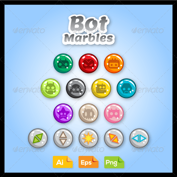 Game Asset - Bot Marbles