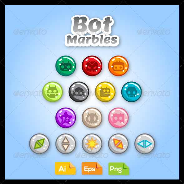 Game Asset - Bot Marbles - Monsters Characters
