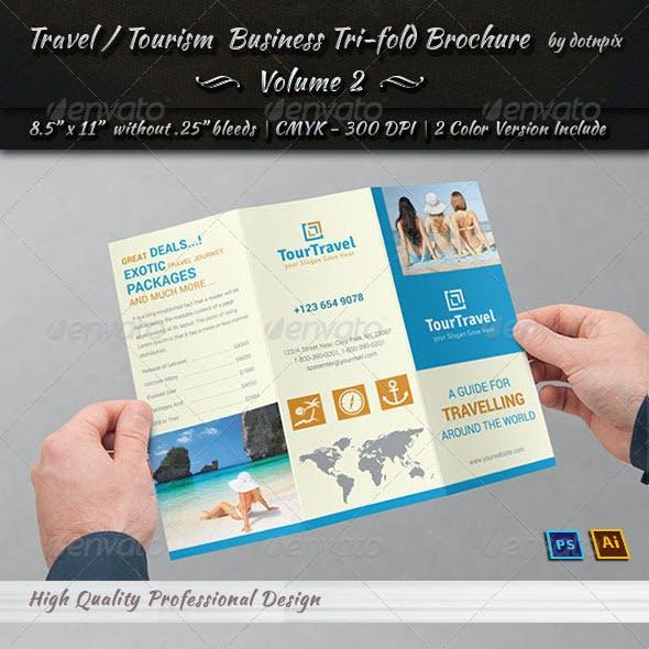 Travel / Tourism Tri-Fold Brochure - Volume 2