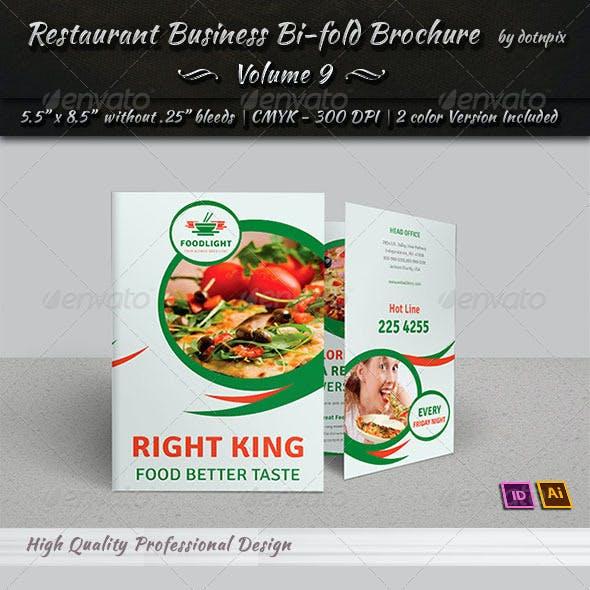 Restaurant Business Bi-Fold Brochure | Volume 9