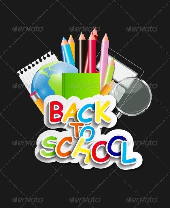 Back to School Concept Vector Illustration - Birthdays Seasons/Holidays