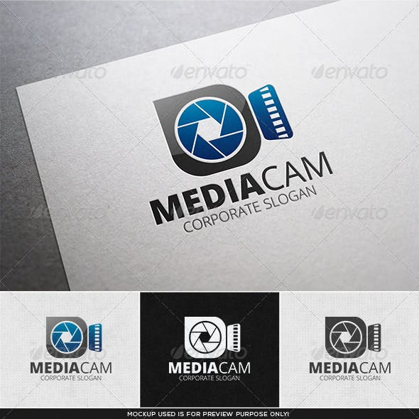 Media Cam Logo Template