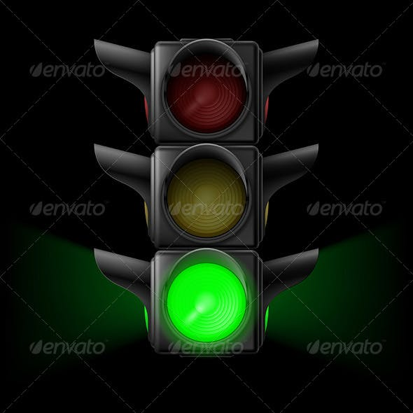 Traffic Light with Green On