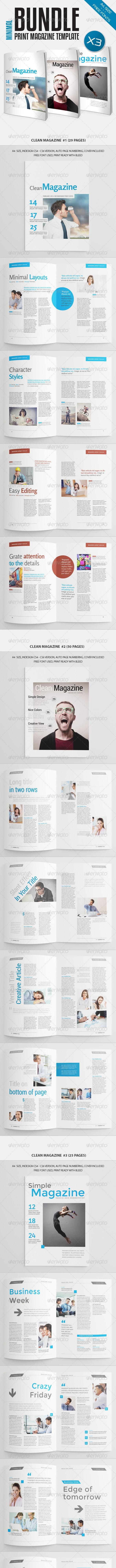 Minimal Magazine Bundle Vol4 - Magazines Print Templates