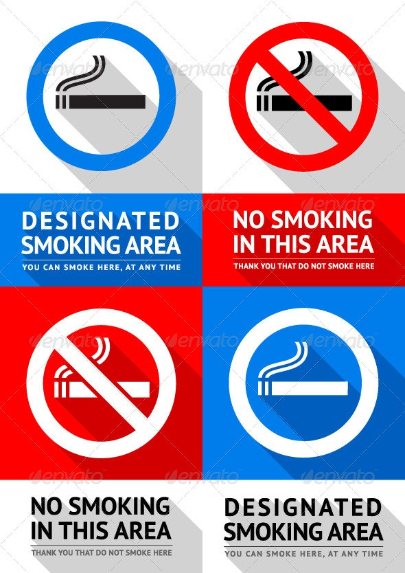 No Smoking Labels - Vectors