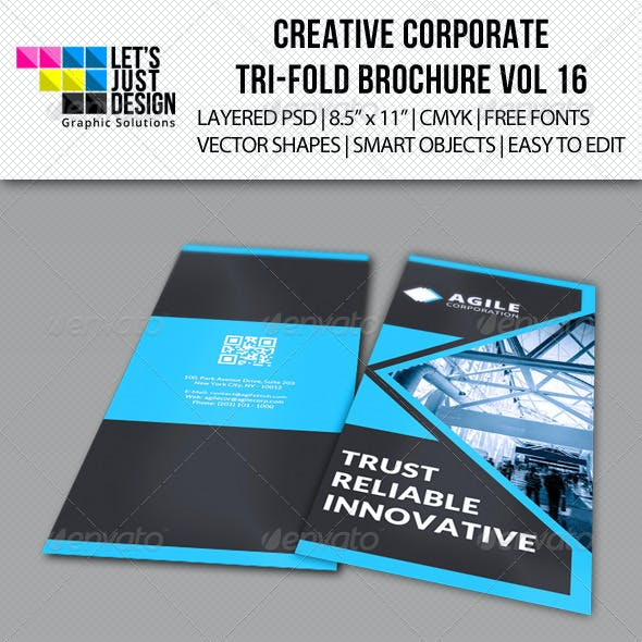 Creative Corporate Tri-Fold Brochure Vol 16