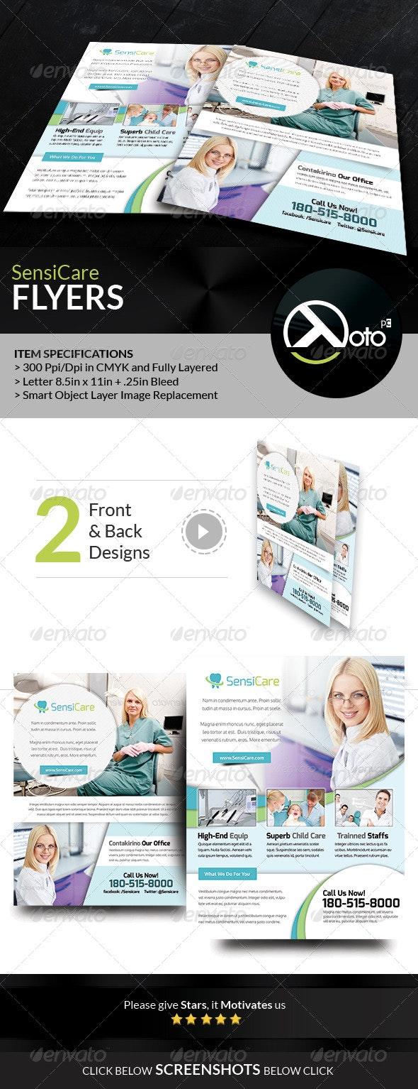 SensiCare Medical Dental Health Care  Flyers - Flyers Print Templates