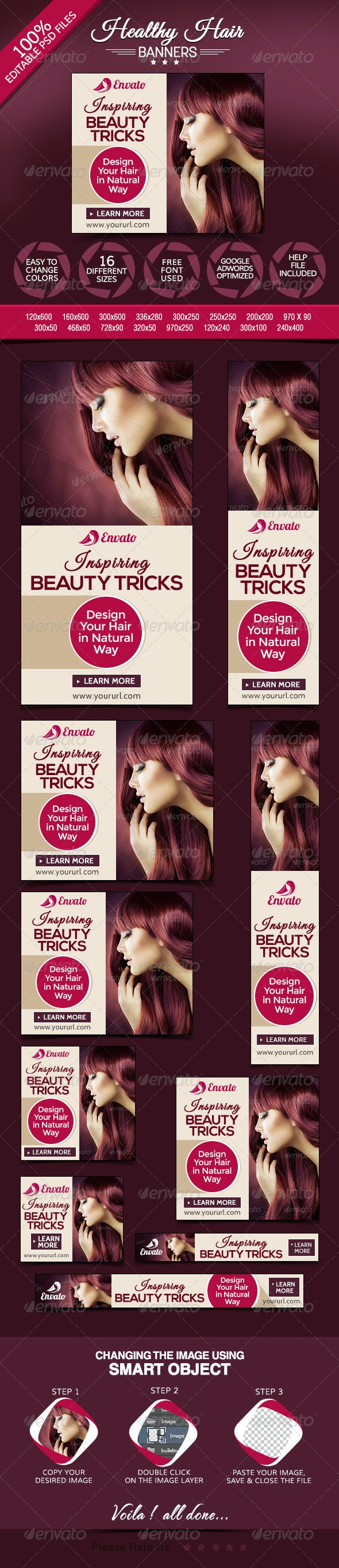 Banners for Hair Products