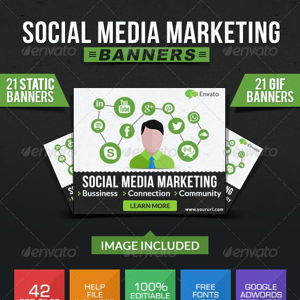 Social Media Marketing Banners - Animated & Static