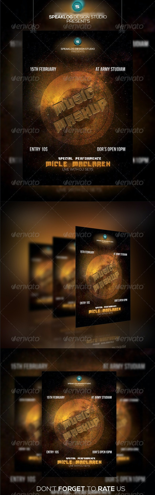 Music Mashup Party Flyer Template
