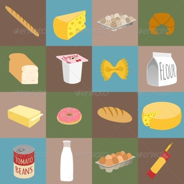 Food Flat Icons - Food Objects
