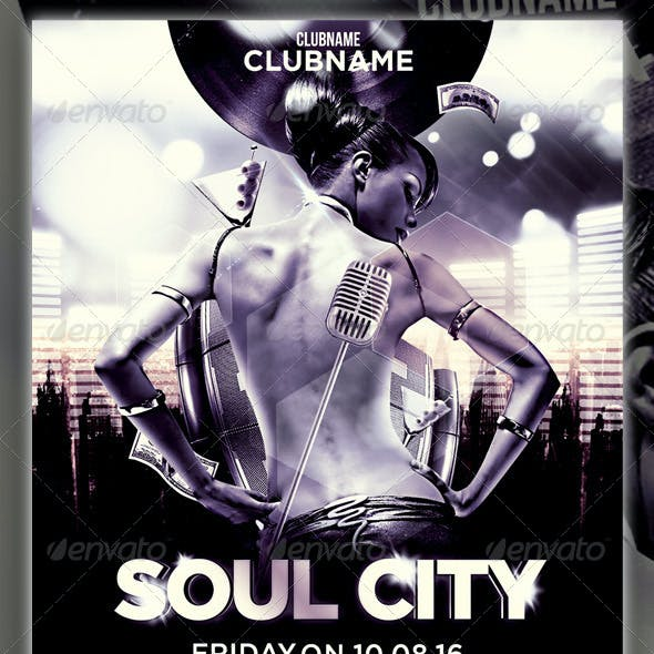 Soul City Party Flyer