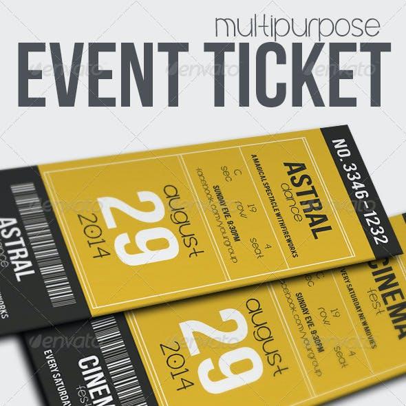 Multipurpose Event Ticket