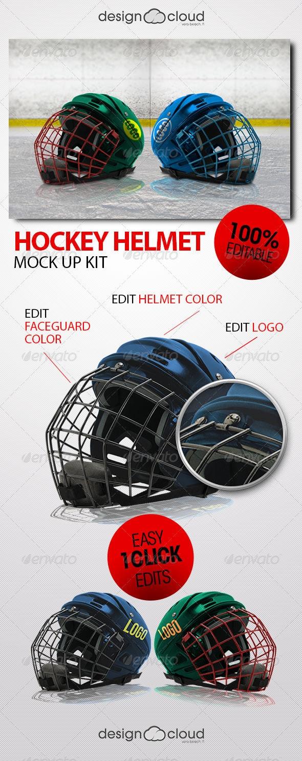 Hockey Helmet Mock Up Kit - Miscellaneous Apparel