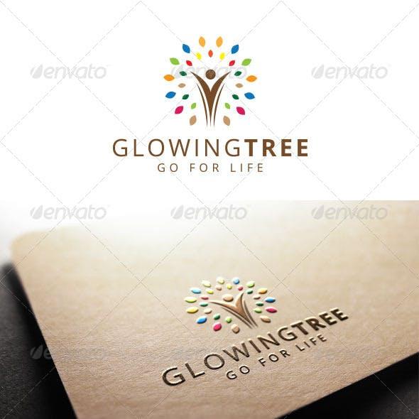 Glowing Tree Logo