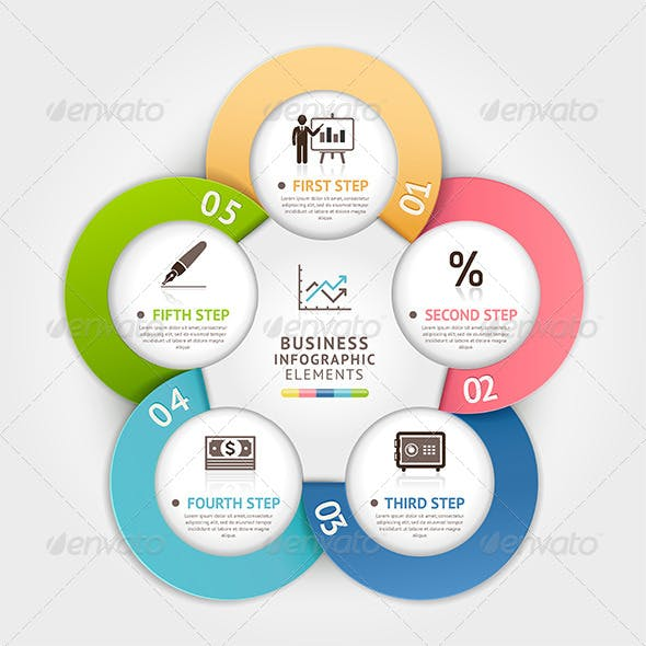 Modern Business Circle Infographic Template