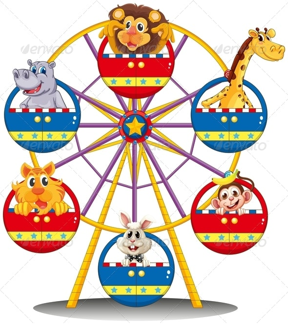 Carnival ride with animals - Animals Characters