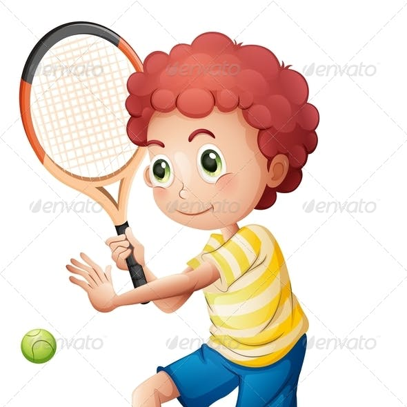 A young tennis player