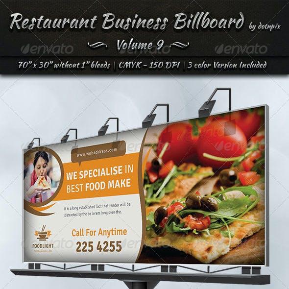 Restaurant Business Billboard | Volume 9