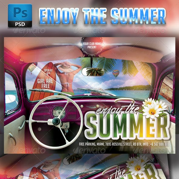 Enjoy the Summer Party Flyer Template