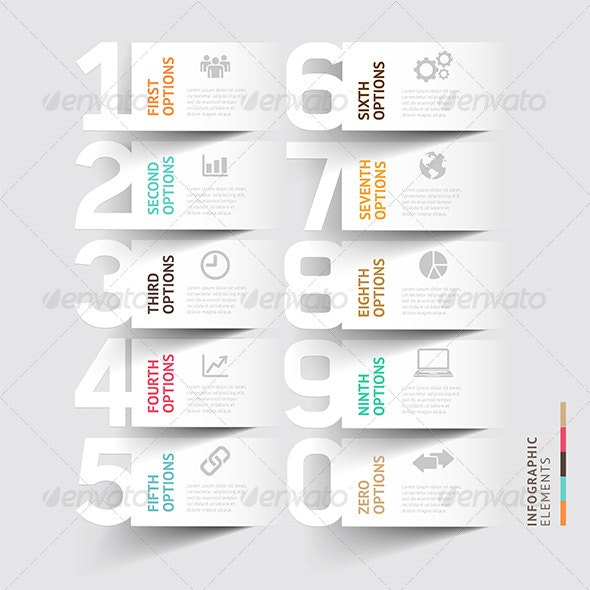 Abstract Infographic Number Options Template - Infographics