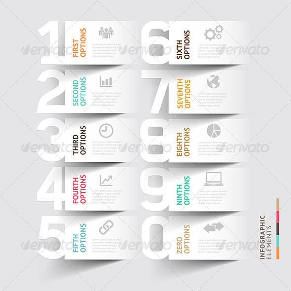 Abstract Infographic Number Options Template