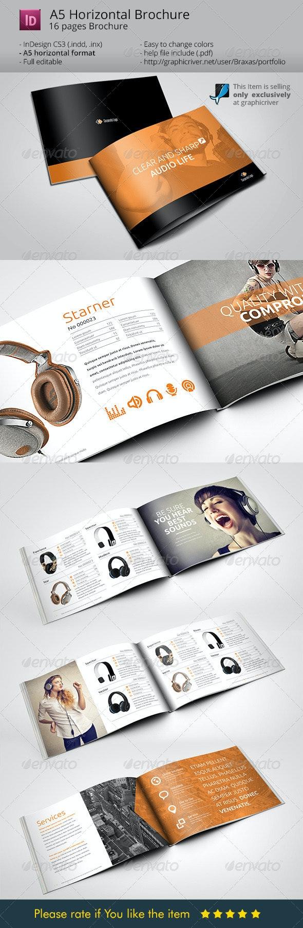 Horizontal Brochure A5 Audio Life - Catalogs Brochures