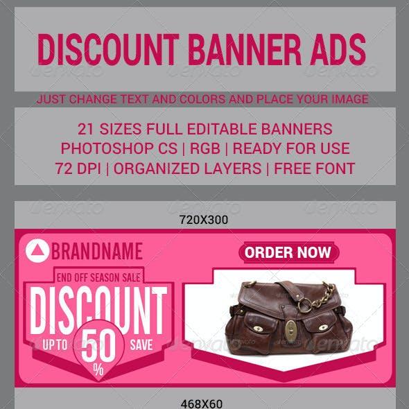Discount Banner Ads 21 sizes v2