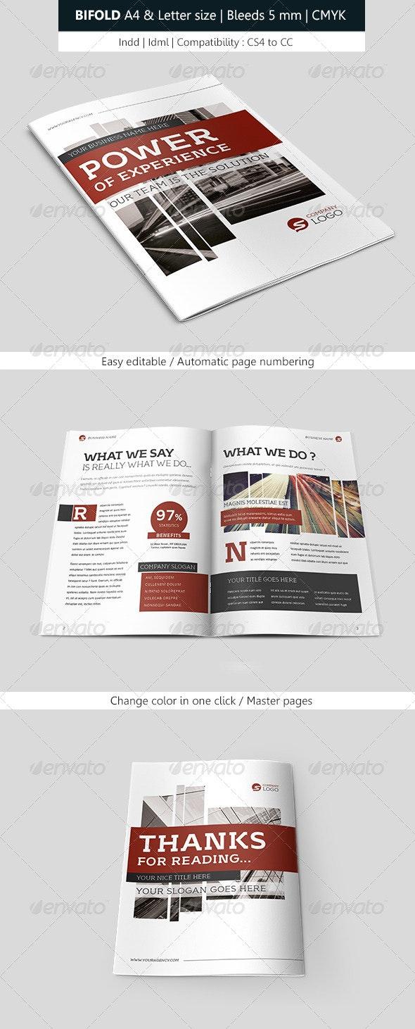 Creative Bifold Brochure Indesign Template - Informational Brochures
