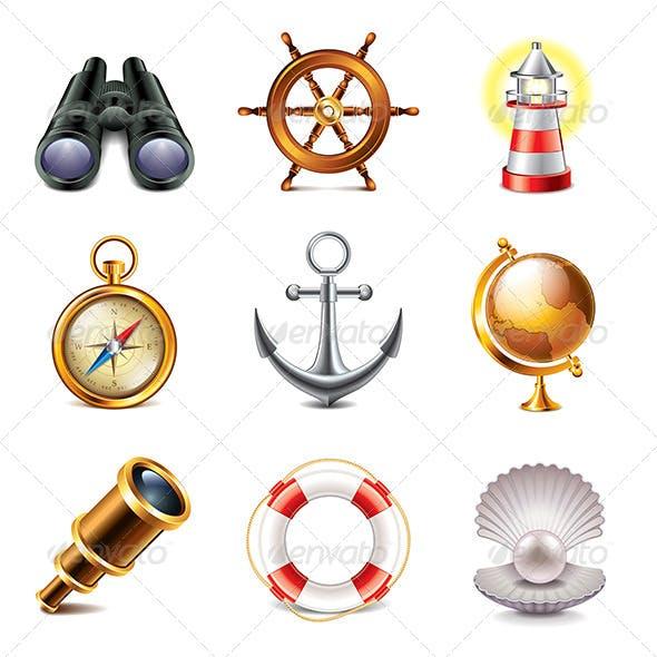 Marine Icons Photo-Realistic Set