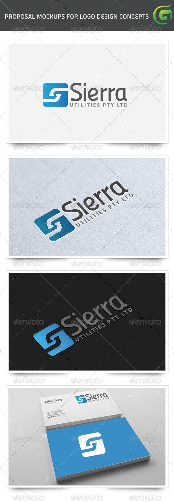 Sierra Plumbing Utilities - Symbols Logo Templates