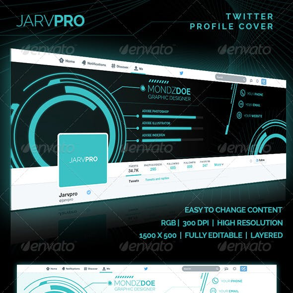 Jarvpro - Twitter Profile Cover