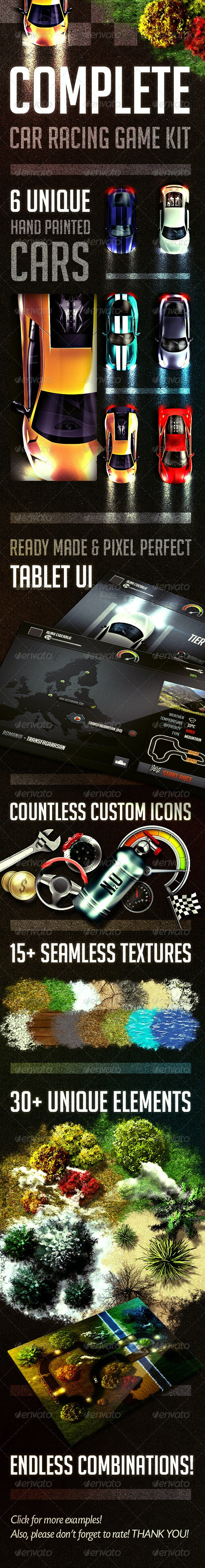Complete Car Racing Game Kit - Game Kits Game Assets