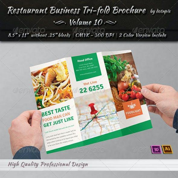 Restaurant Business Tri-Fold Brochure | Volume 10