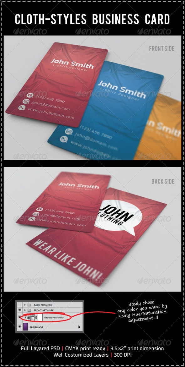 Cloth-Styles Business Card - Creative Business Cards