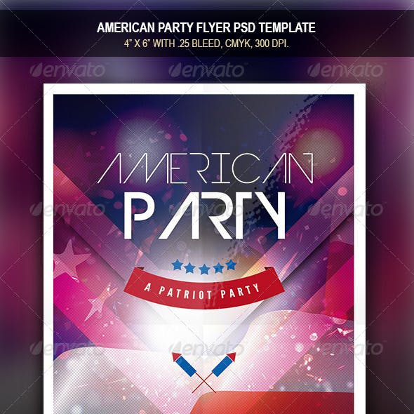 American Party | Flyer Template