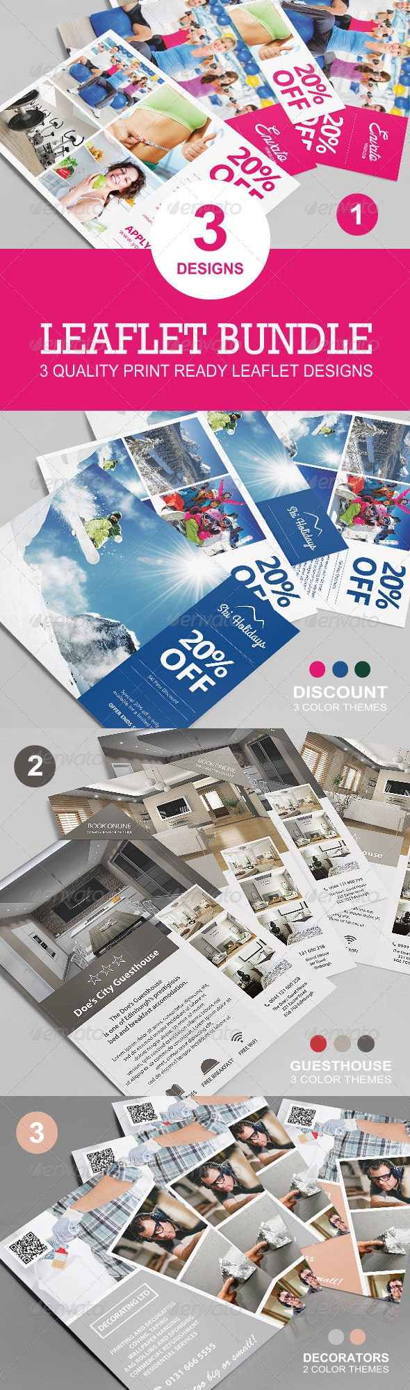 Leaflet Bundle - Flyers Print Templates