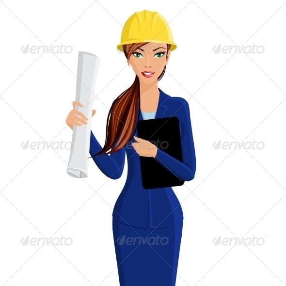 Woman Engineer Portrait