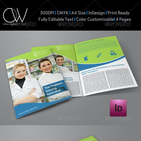 Pharmacy Brochure Bi-Fold Template