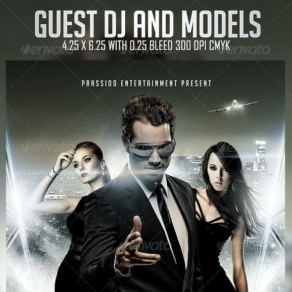 Guest DJ And Models Flyer Template