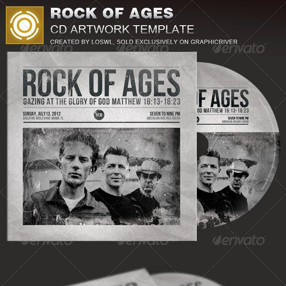 Rock of Ages CD Artwork Template