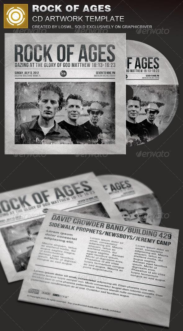 Rock of Ages CD Artwork Template - CD & DVD Artwork Print Templates