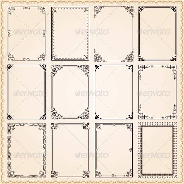 Decorative Frames And Borders Vector Set